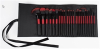 Rio Professional Cosmetic Brush Collection - Rød