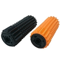 Foamroller massage rulle sæt i orange og sort på 2 x (33 X 14 cm )