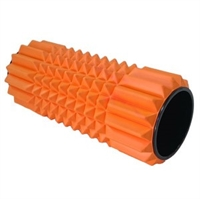 Foamroller / massage rulle i orange på 33 X 14 cm