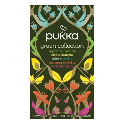 Pukka Green collection te - 20 økologiske te breve